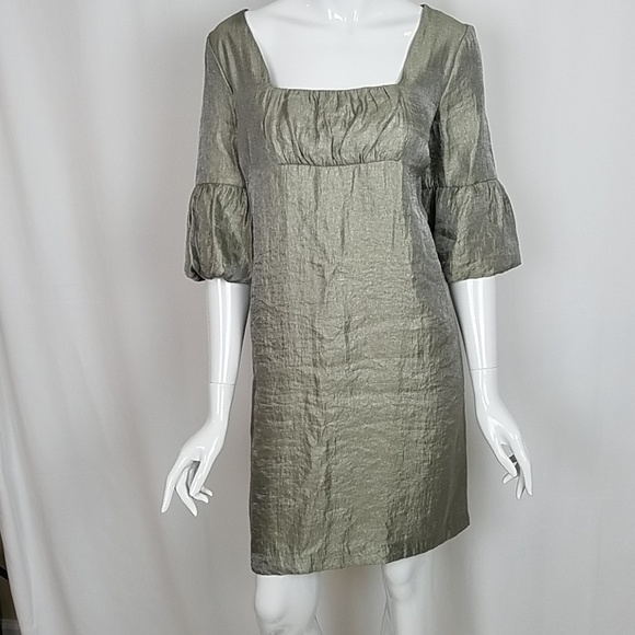 dc4eec1d215 AGB dress Dresses   Skirts - AGB Iridescent Taupe 3 4 Sleeve Shift Dress